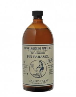 Marius Fabre vloeibare Savon de Marseille Pin Parasol navulverpakking 1L - www.skinessence.nl