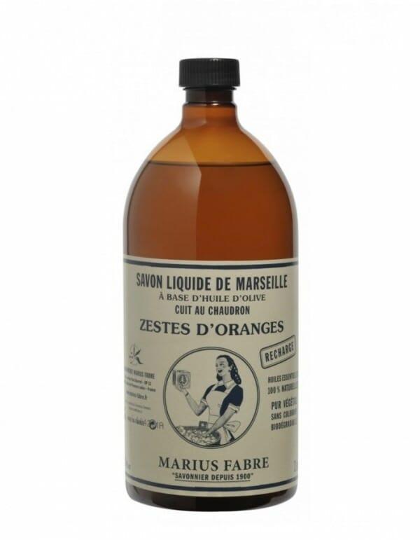 Navulverpakking van Savon de Marseille liquide van Marius Fabre - www.skinessence.nl