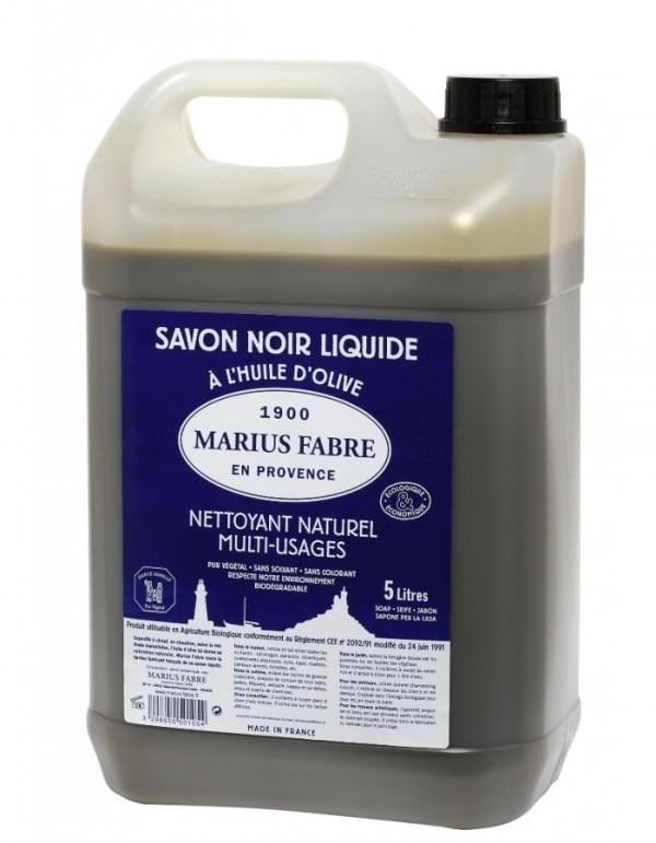 Zwarte zeep van Marius Fabre in 5 liter verpakking - www.skinessence.nl