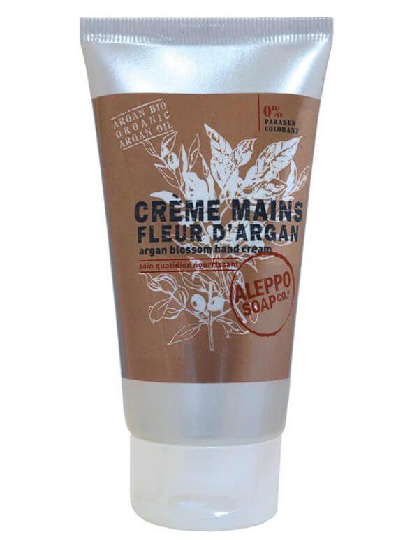Handcrème geparfumeerd met Arganbloesem van ALEPPO SOAP co - www.skinessence.nl
