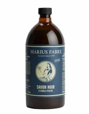 Marius Fabre vloeibare zwarte zeep van olijfolie navulling 1L - skinessence.nl