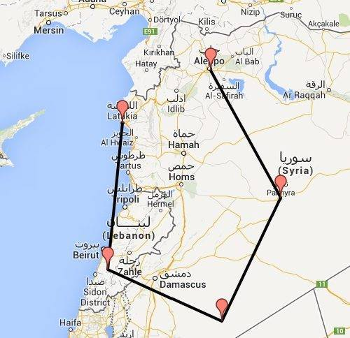 De enorme omweg die het transport van Aleppo zeep moet maken sinds de oorlog in Syrië