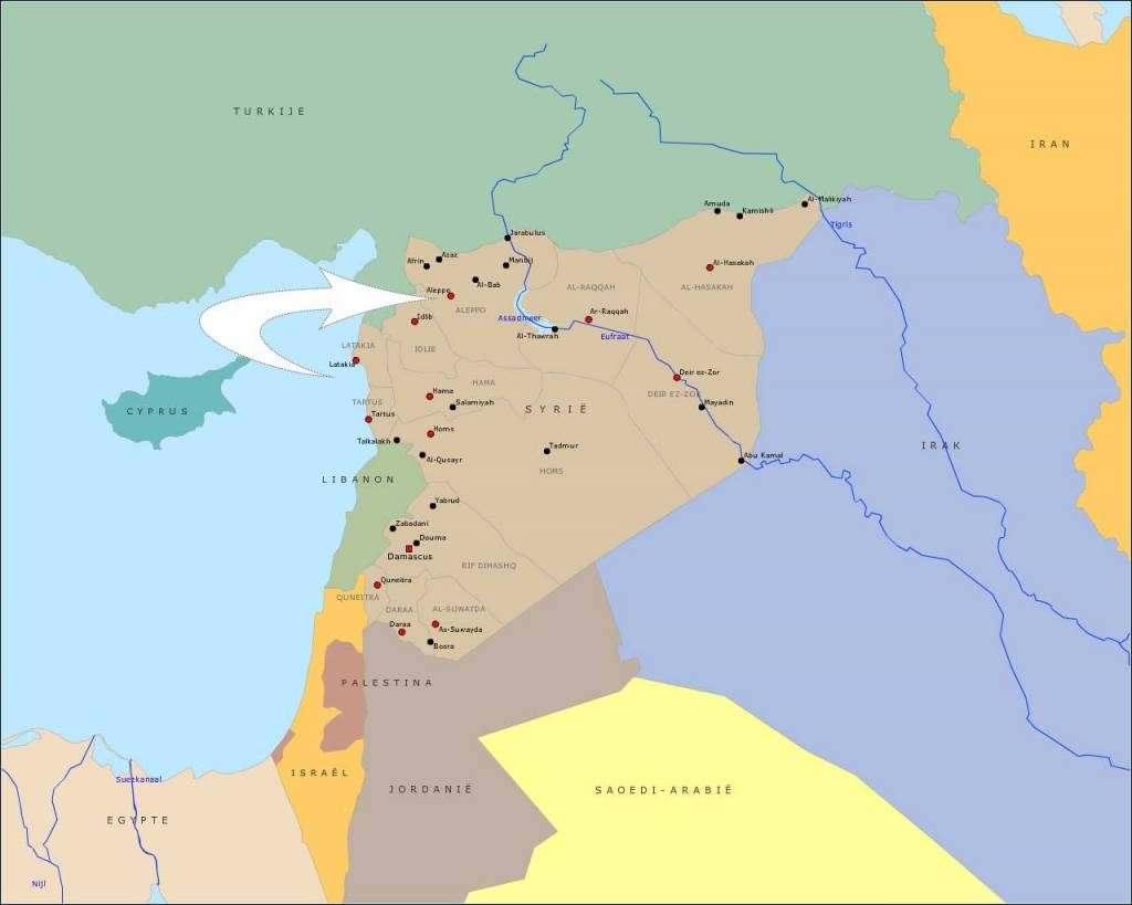 Syrië-kaartje-aleppo