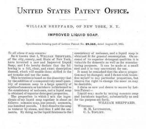 vloeibare-zeep-patent-uit-1865
