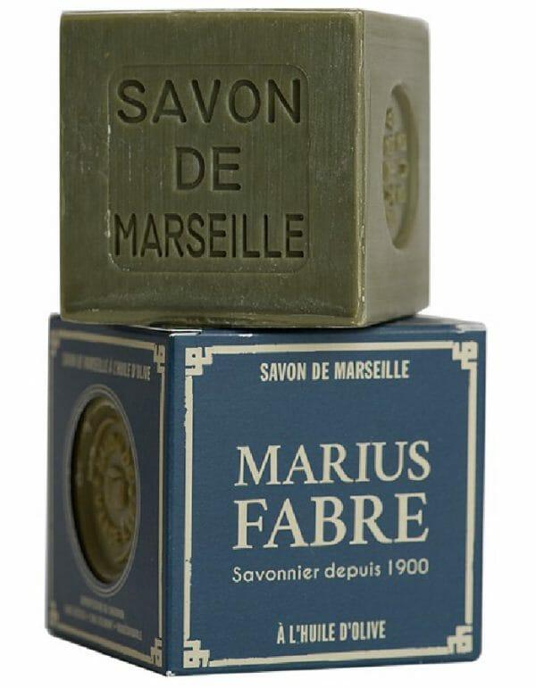 Marius Fabre Marseillezeep 400 gram olijfzeep in een doosje