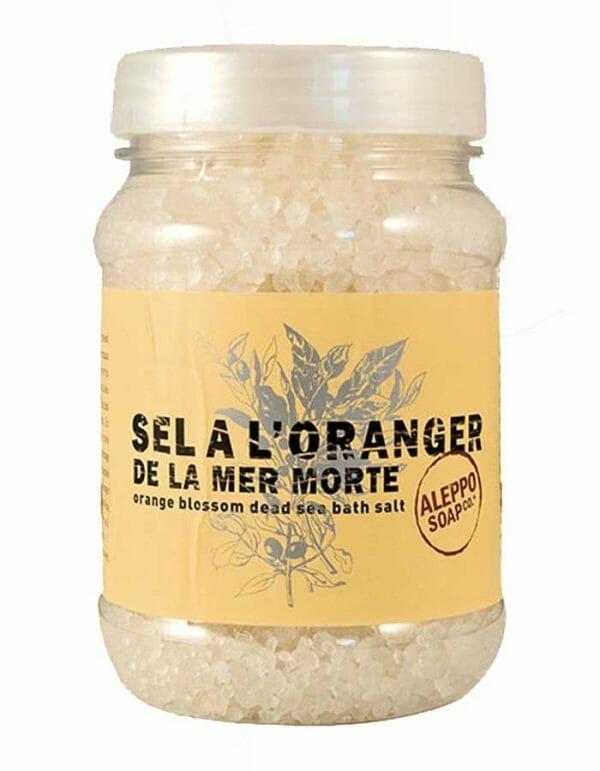 Dode Zeezout geparfumeerd met Sinaasappelbloesem van Aleppo Soap Co