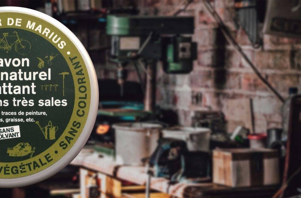 Garagezeep van Marius Fabre - een werkplaatszeep op natuurlijke basis