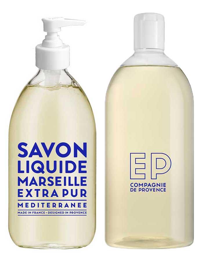 Compagnie de Provence Mediterranee Duo - 500ml zeeppompje en navulling - Wild Rose
