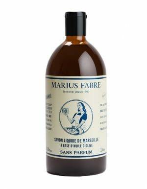 Vloeibare Marseillezeep zonder Parfum 1L navulling - Marius Fabre - SkinEssence