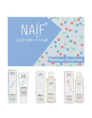 Naïf Newborn Essentials Giftbox met producten