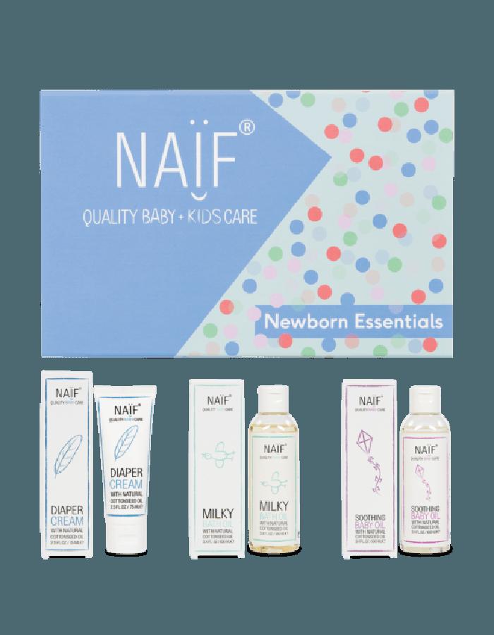 Naïf Newborn Essentials Giftbox met producten
