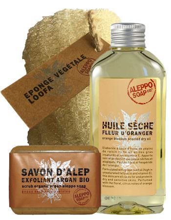Aleppo Soap Co Scrub Trio in cadeaudoos