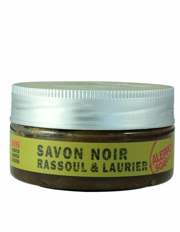 Zwarte Zeep Rassoul & Laurier masker van Aleppo Soap Co - Skinessence.nl